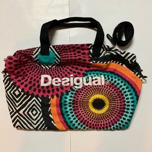 Desigual Large Multicolor Shoulder Tote Bag